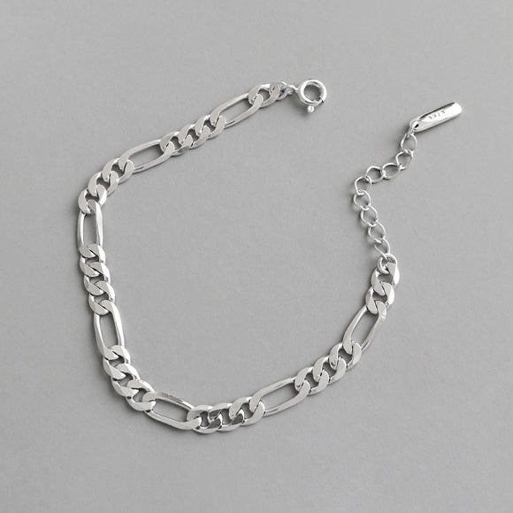 925 Sterling Silver Jewelry Plain Link Chain Bracelet For Women Men Lover