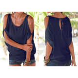 Womens Clothing Casual Summer Tops Batwing Short Sleeve Loose T-Shirt