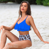 High Waisted Bikini Set for Women Two Piece Swimsuit Flounce Bathing Suit