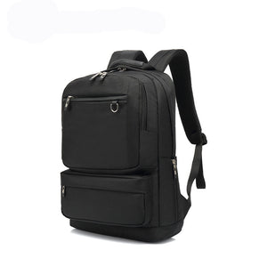 16 Inch Mens Travel Backpack for Laptop and Notebook, High School College Bookbag For Boys, Black
