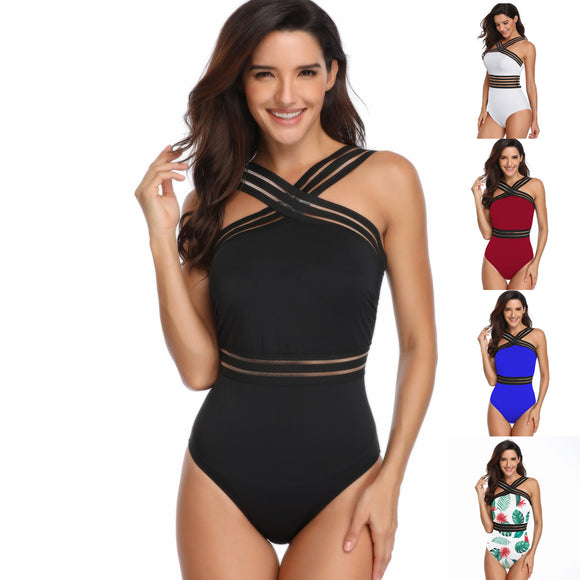 Women's One Piece Swimsuits Athletic Training Swimsuits Swimwear Bathing Suits