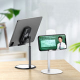 Angle Height Adjustable Cell Phone Stand for Desk, Fully Foldable Phone Holder, Tablet Stand