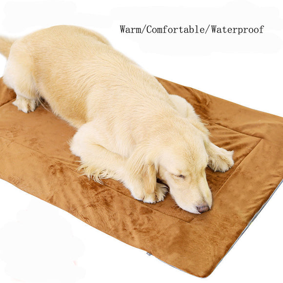 Lagre Dog Bed Crate Pad Dog Mat Mattresss Pet Beds Foam Cushion Anti-Slip Kennel Bed with Washable Cover