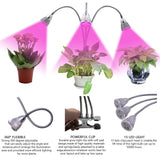 ZX-FLM-45W Three-Head LED Grow Lights for Plants Red Blue Clip Light 60 LED