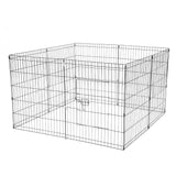 "36"" Tall Wire Fence Pet Dog Cat Folding Exercise Yard 8 Panel Metal Play Pen Black"