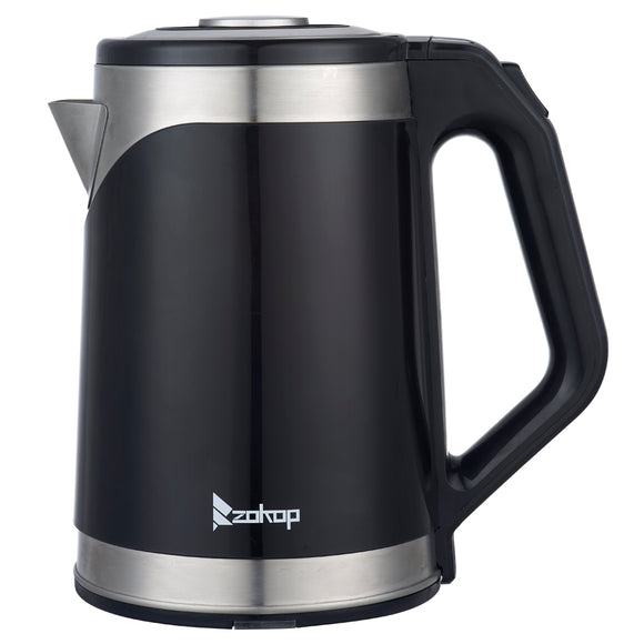 [US Standard] ZOKOP HD-203 110V 1500W 1.8L Stainless Steel Rubberized Electric Kettle