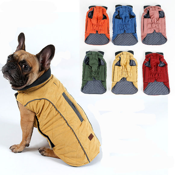 Retro Design Cozy Winter Dog Pet Jacket Vest Warm Pet Outfit Clothes