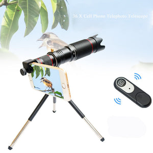 Cell Phone Camera Lens, 36X Zoom Telephoto Lens, HD Smartphone Lens for iPhone