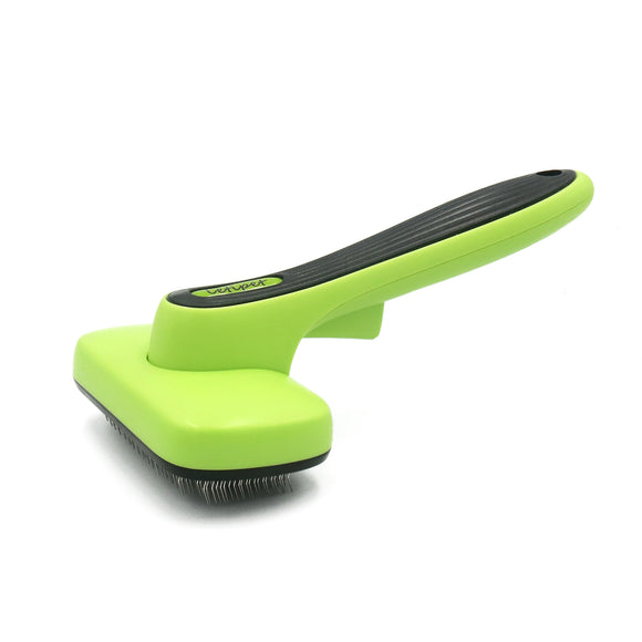 Self Cleaning Slicker Brush – Gently Removes Loose Undercoat,Mats and Tangled Hair,Dog or Cat Grooming Brush