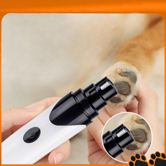 Dog Nail Grinder Professional Electric Rechargeable Pet Nail Trimmer Painless Paws Grooming & Smoothing