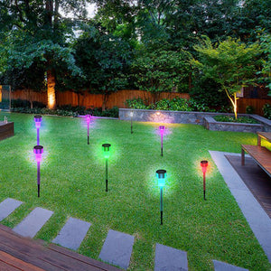 24pcs 5W High Brightness Solar Power LED Lawn Lamps with Lampshades Seven Color