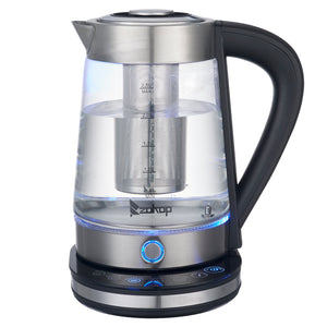 ZOKOP HD-2005D [US Standard] 110V 1500W 2.5L Blue Glass Electric Kettle with Filter