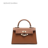 2020 New Fashion Leather Bag Small Kelly Bag Women's Handbag Daily Working Bag
