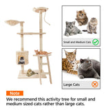"60"" Solid Cute Sisal Rope Plush Cat Climb Tree Cat Tower Beige"