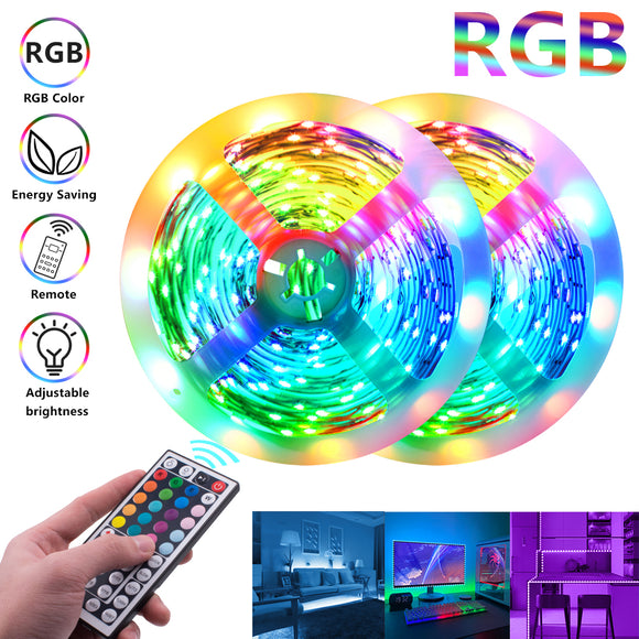 LED Strip Lights, 12V-5050 LED RGB 44 Keys 150 Lights 24W 16.4ft LED Lights