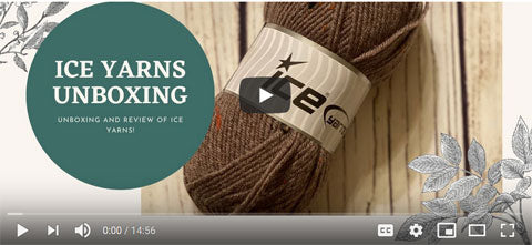 ice yarn unboxing review leonardo wool worsted color