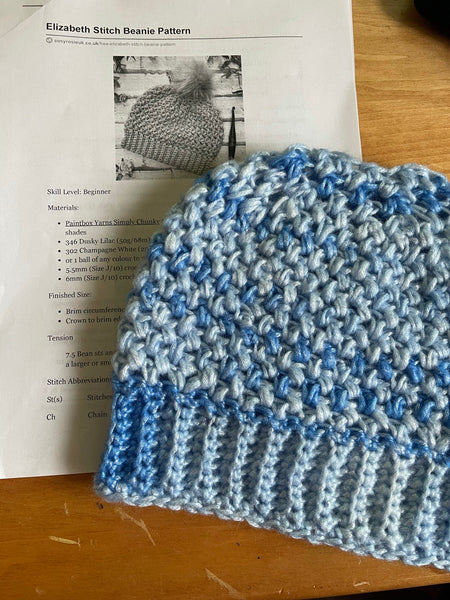 Ice Yarns Picasso Blue Shades Crochet Swatch Sample