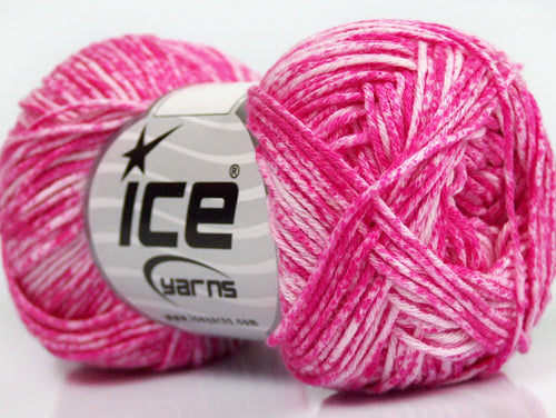 Jeans Cotton Ice Yarn Bright Pink