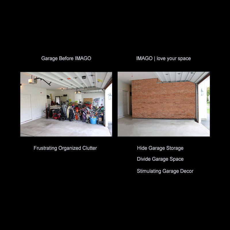 IMAGO | love your space | Garage Divider | Hide Garage Storage | Garage Organizer