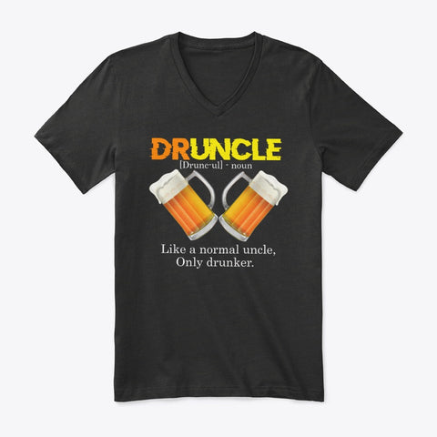 DRUNCLE DEFINITION LIKE A NORMAL UNCLE T-SHIRT