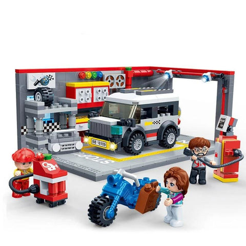 garage voiture playmobil