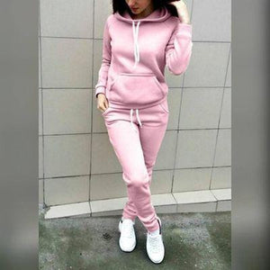 Women's Hooded Sweatshirt & Tracksuit With Cap