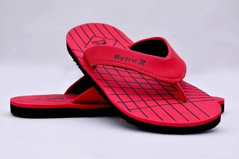 Comfortable Red Fabric Slippers For Men
