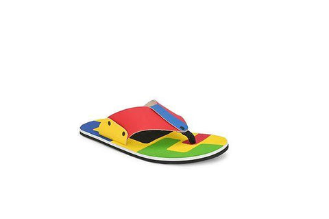 Men's Stylish and Trendy Multicoloured Colourblocked Synthetic Leather Casual Slippers
