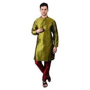 Men's Brocade Kurta With Churidars