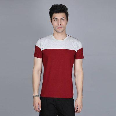 Men's Multicoloured Cotton Colourblocked Round Neck Tees