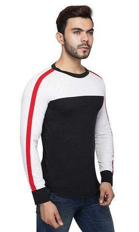 Men's Colourblocked Round Neck T-Shirt