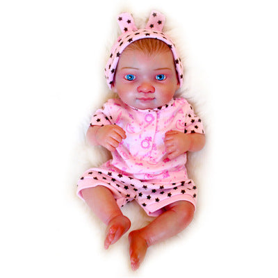 Luna: Tantalizing Eyes Full Body MIni Silicone Baby Girl - Newborn Doll