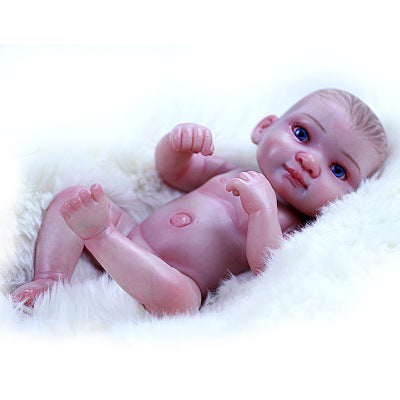 Juliet: Pink Suit 10 Inches Full Body Silicone Realistic Mini Baby Doll Girl - Newborn Doll