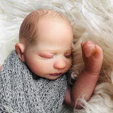 Owen: Quiet Sleeping Lovely Full Body Realistic Silicone Baby Girl Doll - Kiss Reborn