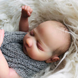 Owen: Quiet Sleeping Lovely Full Body Realistic Silicone Baby Girl Doll - Newborn Doll