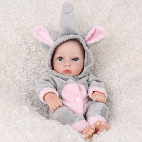 "10"" Elephant Suit Newborn Baby Oliver - Kiss Reborn"