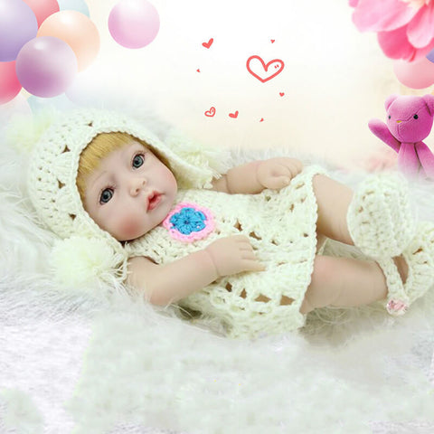 10 in Full Silicone Mini Reborn Baby Girl Doll Sophie - Kiss Reborn