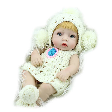 10 in Full Silicone Mini Reborn Baby Girl Doll Sophie - Newborn Doll