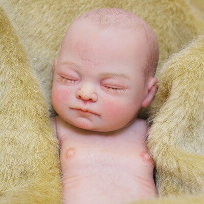 Casey: 26 cm Hand Painted Full Body Silicone Newborn Baby Girl Doll - Newborn Doll