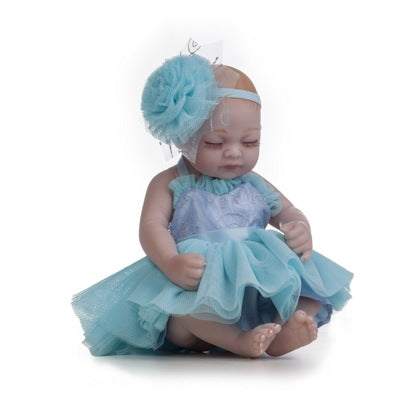 "Judy: 11"" Sweet Dreams Mini Toddler Baby Doll Girl - Kiss Reborn"