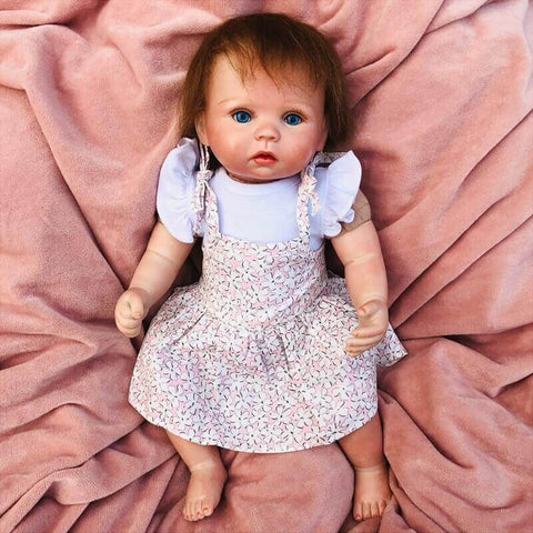 Hardy Sunshine: Light-colored skin Cuddle Reborn Baby Girl - Newborn Doll