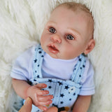 Charles: Big Starry Hazel New Born Baby Boy Doll - Newborn Doll