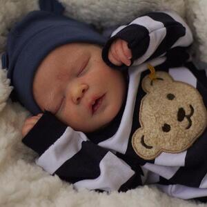 "Liam: 17.5"" Sleeping Full Vinyl Body Baby Doll Boy - Newborn Doll"