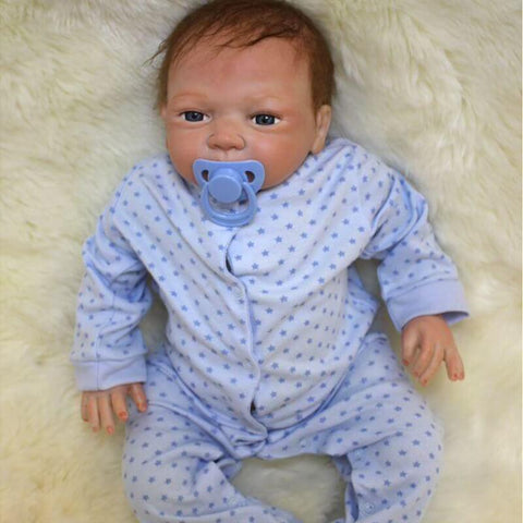"Arthur: 18"" Flushing Face Gorgerous Baby Boy Doll - Kiss Reborn"
