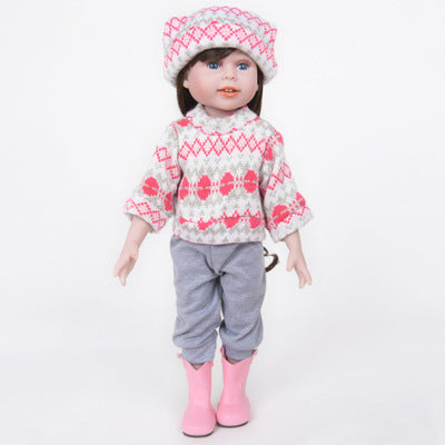 "Janice: 12"" Brown Long Hair Life-like Feel Mini Baby Doll Girl - Newborn Doll"