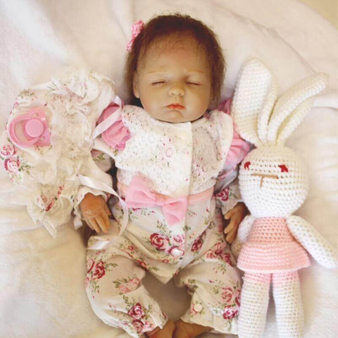 Dabria: Best Price Closed Eyes Angel Baby Doll Girl - Kiss Reborn