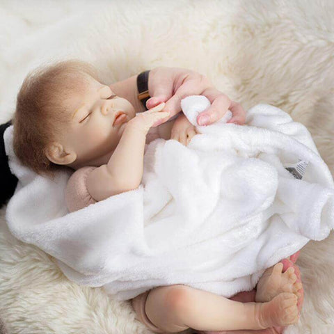 "Egbert: 18"" Real Look Newborn Baby Doll Girl under $100 - Kiss Reborn"