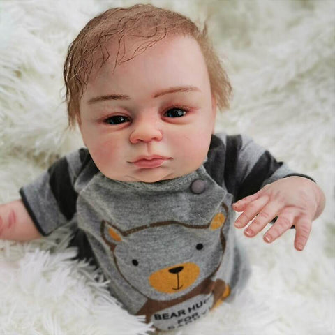 Enoch: Brown Eyes Reborn Real Baby Doll Boy - Newborn Doll