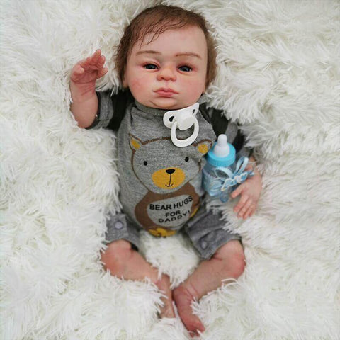 Enoch: Brown Eyes Reborn Real Baby Doll Boy - Kiss Reborn