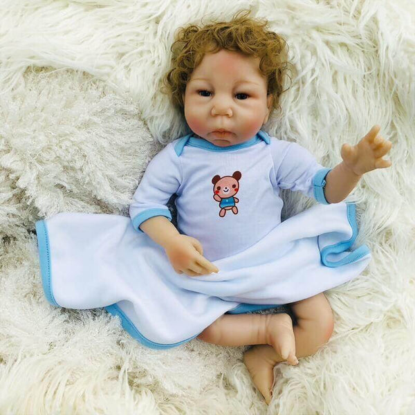"Faith Pure 18"" Brown Hair Reborn Baby Doll Girl - Kiss Reborn"